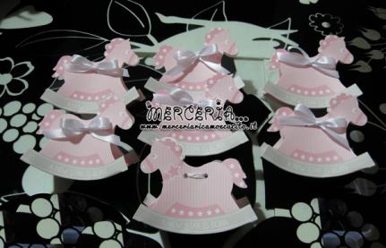 Bomboniere portaconfetti cavalluccio rosa per Ariannna Pia