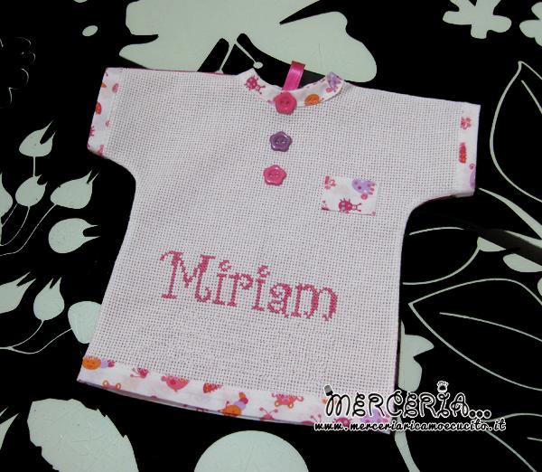 """Maglietta auto """"Bimba a Bordo"""" per Miriam"""