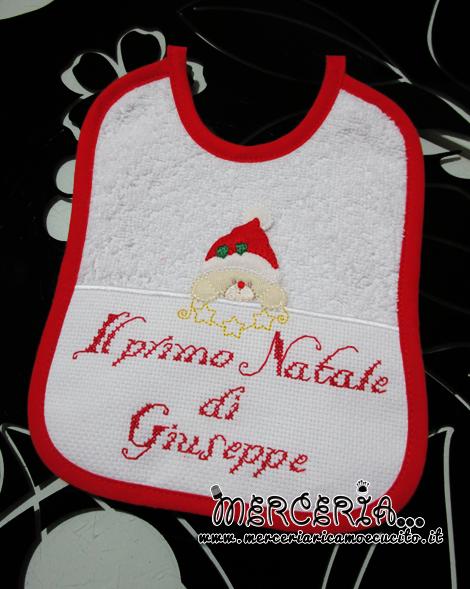 """Bavetta con orsetto natalizio """"Il primo Natale di Giuseppe"""""""