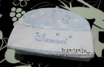 Set nascita - Accappatoio, beauty e coprifasciatoio per Samuel