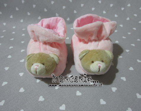 Scarpette rosa con orsetto