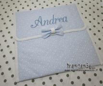 Busta porta oggetti trapuntata con stelline little star per Andrea
