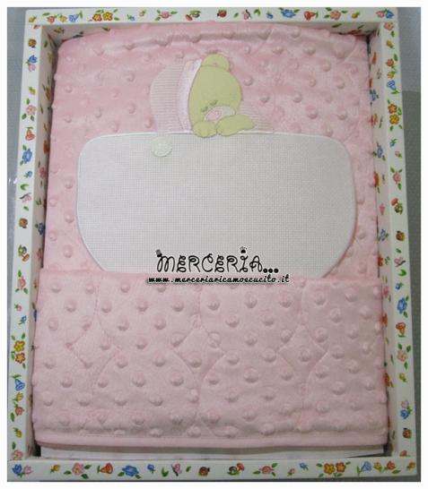 Copertina bolle rosa con orsetto