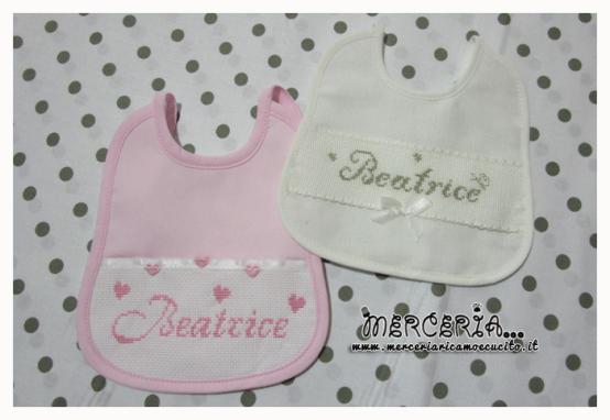 Bavette personalizzate per Beatrice