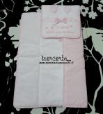 Set per nascita - Busta coprifasciatoio e busta porta oggetti little star personalizzate