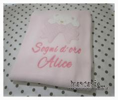 Set regalo con orsetto e copertina rosa per Alice
