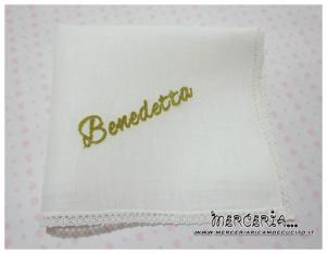 Asciugamano in cotone con merletto per Benedetta