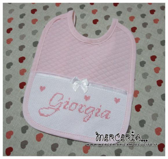 Bavetta con rombetti rosa per Giorgia