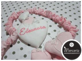 Fiocco nascita cuore con cuoricini per Eleonora
