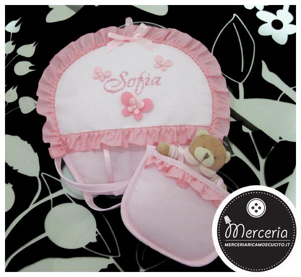 Fiocco nascita mongolfiera rosa per Sofia