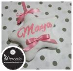 """Fiocco nascita rosa orso su nuvola """"Sono arrivata"""" per Maya"""
