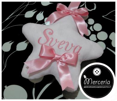 """Fiocco nascita rosa sacco con orsetto """"È nata"""" per Sveva"""