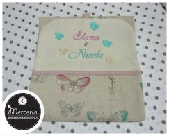 Porta pannolini butterfly per Elena e Nicole