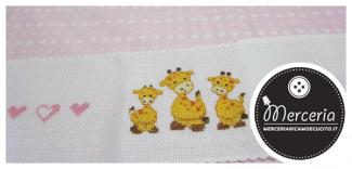 Bordura lenzuolino con giraffe