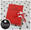 Bomboniera portaconfetti a forma di libro con esami laurea in giurisprudenza per la Dott.ssa Martegiani