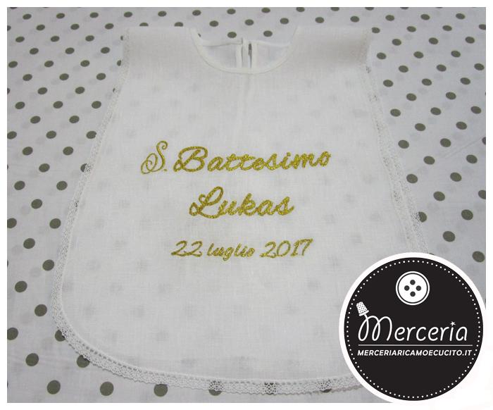 Bien connu Camicina bavaglino per battesimo in lino con ricamo : (Grottaglie) UQ98
