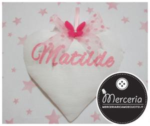 Fiocco nascita cuore per Matilde