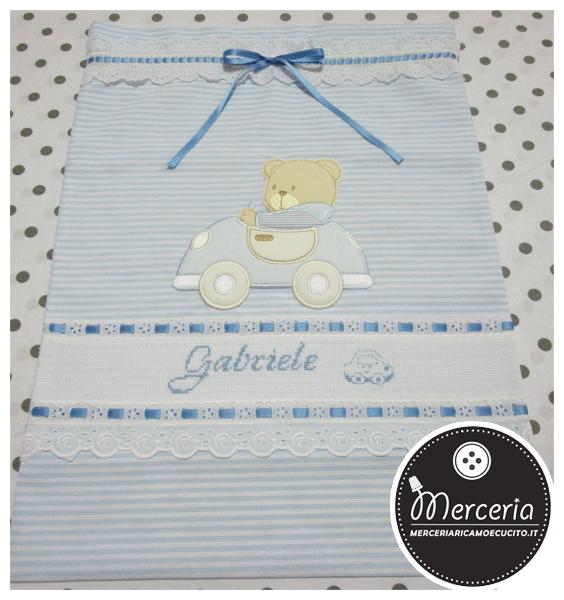 Sacchetti nascita e asilo personalizzati per Gabriele