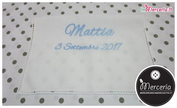 Asciugamano in cotone con merletto per Mattia