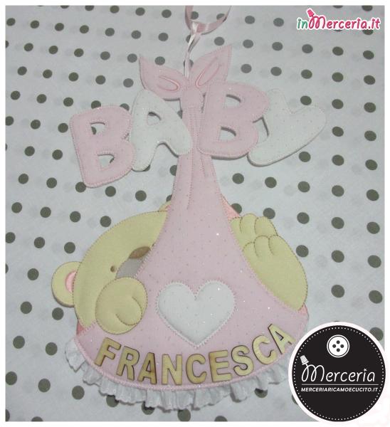 Fiocco nascita sacco Baby per Francesca
