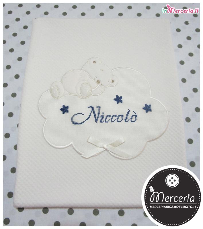 Copertina-panna-per-neonato-con-orsetto-e-nuvola-per-Niccolò