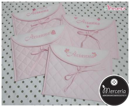 Buste trapuntate rosa per Arianna