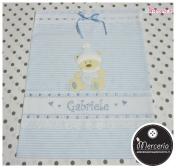 Sacchetti nascita e asilo e asciugamano per Gabriele
