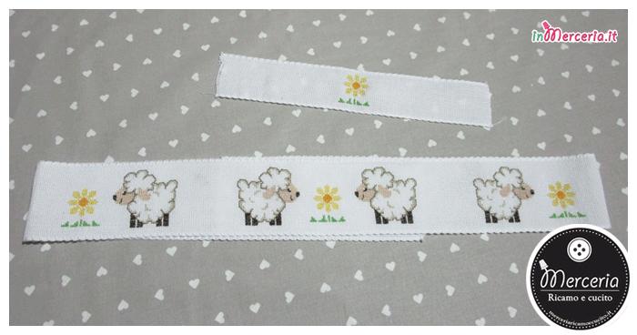 Bordura per lenzuolino con pecorelle