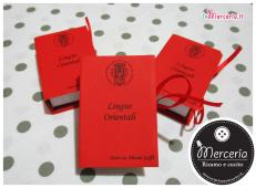 Bomboniera portaconfetti a forma di libro per Laurea in Lingue Orientali per La Dott.ssa Alessia