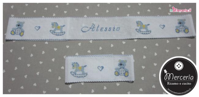 Bordura lenzuolino con orsetto e cavalluccio per Alessio