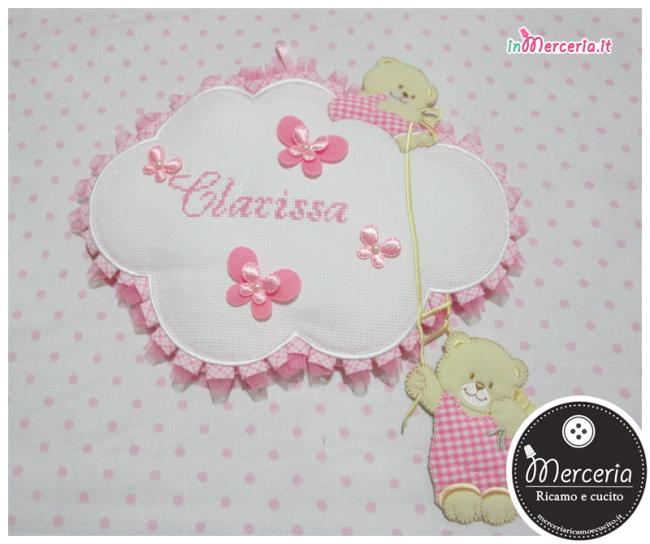 Fiocco nascita nuvola rosa per Clarissa
