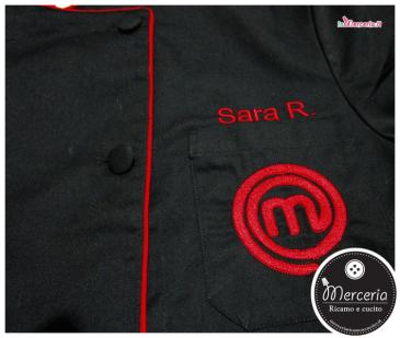"""Giacca cuoco """"Masterchef personalizzato per Sara"""