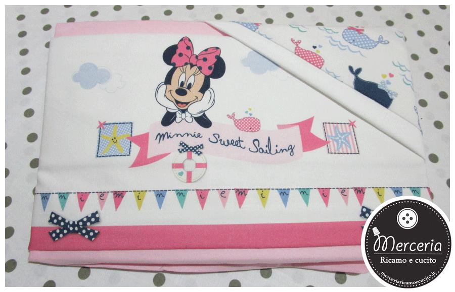 Set lettino Disney - Minnie mouse rosa