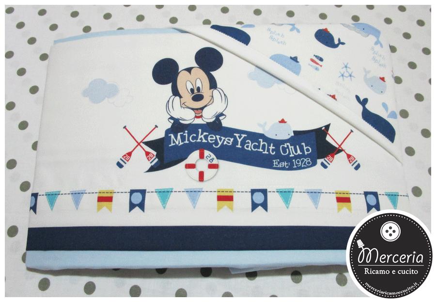 Set lettino Disney- Topolino Mickey mouse celeste