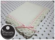Set nascita - Copertina in lana, sacco coniglio, cappello e fiocco nascita cuore per #Agnese