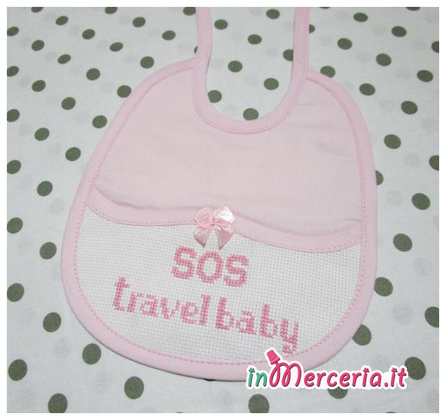 """Bavetta rosa con fiocchetto """"SOS travel baby"""""""