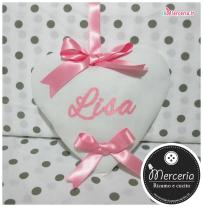 Fiocchi nascita cuore e stellina per Lisa