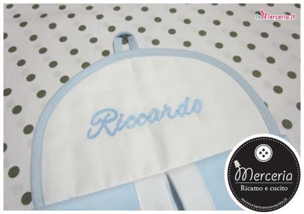 Portapannolini personalizzato con nome Riccardo