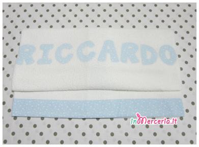 Asciugamano telo bagno per Riccardo