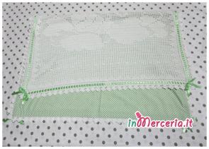 Copertine per neonato all'uncinetto in cotone con angioletto