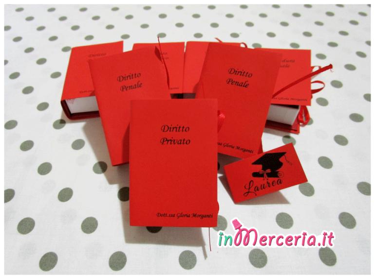 Bomboniera portaconfetti a forma di libro per la Laurea della Dott.ssa Gloria