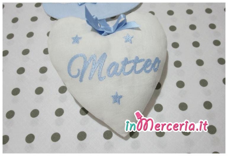 """Set nascita – Fiocco nascita pois con orsetto, copertina con orsetto strass e bavetta con clip per """"Lorenzo"""""""