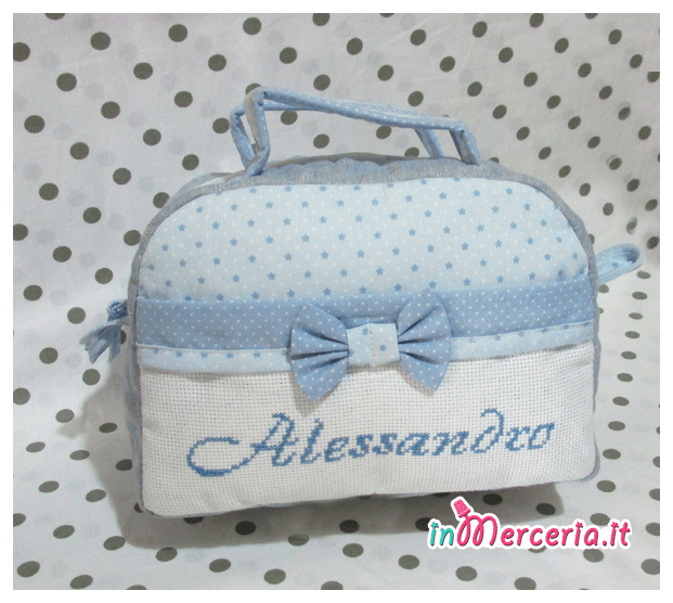 Beauty case stelle con pois per Alessandro