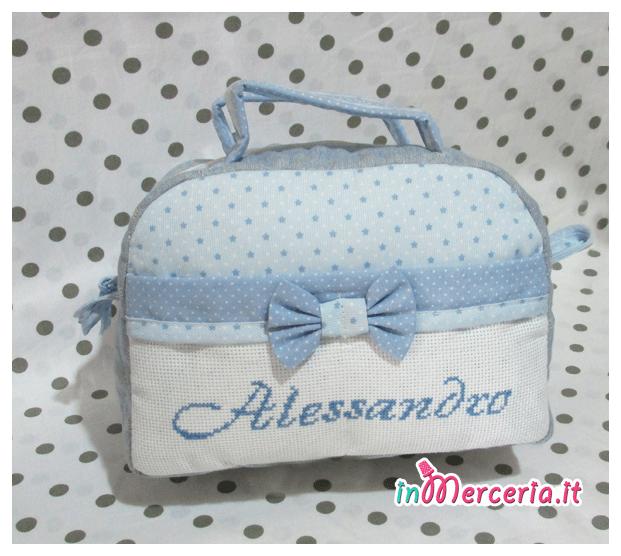 Beauty case stelle con pois per Alessandro
