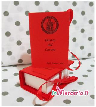 """Bomboniera portaconfetti a forma di libro per la Laurea della """"Dott. Stefano"""""""