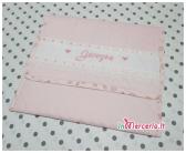 Buste trapuntate rosa elegante e bianca con orsetto nanna per Giorgia