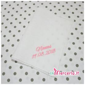 Asciugamano in lino con merletto per Noemi