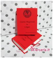 """Bomboniera portaconfetti a forma di libro per la Laurea Magistrale in Lingue della """"Dott.ssa Nicoletta"""""""