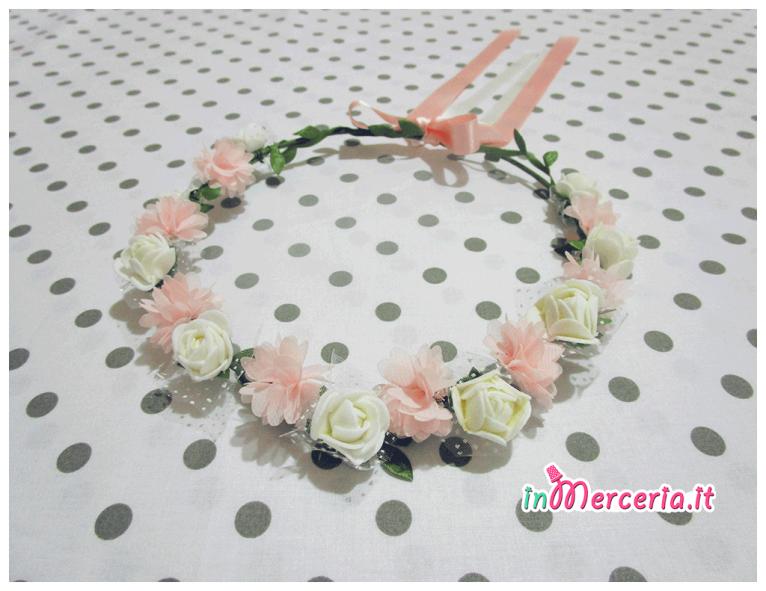 Coroncina fiori per sposa e damigelle