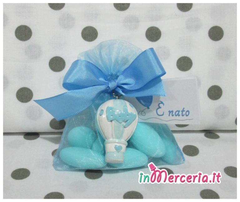 Confettata con portachiavi mongolfiera baby
